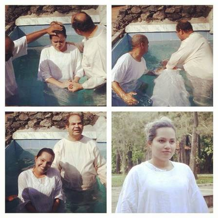 Fotos do batismo de Natália Sarraff
