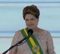 Em seu discurso de posse, a presidente reeleita Dilma Rousseff fala de Deus, fé e oração