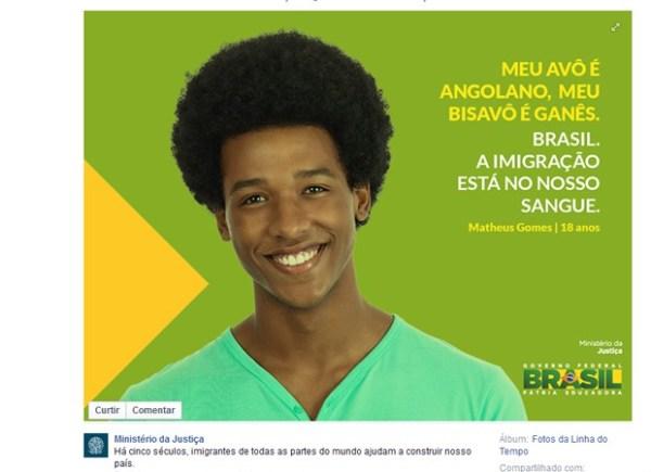 Escravidão retratada como imigração