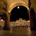 El reloj de la plaza Mayor de Salamanca no tiene luz