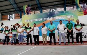 Inauguran en Palenque Encuentro Deportivo Estatal Indígena 2016