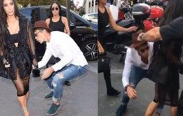 A Kardashian un sujeto intenta besarle su mediático trasero