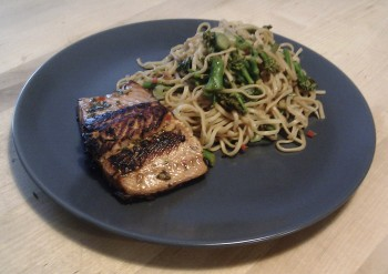 Oriental Sea Trout and Noodles