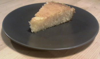 Freshly cut Lemon Cake