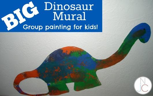 wall dino mural