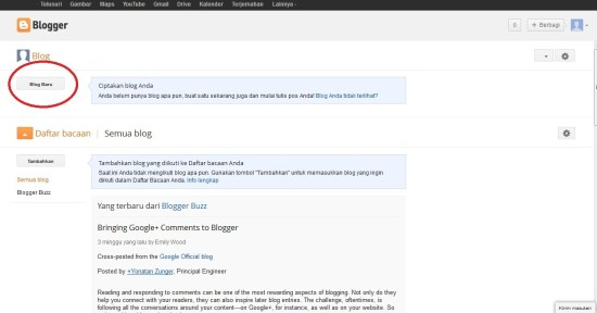 Halaman Depan Blogger