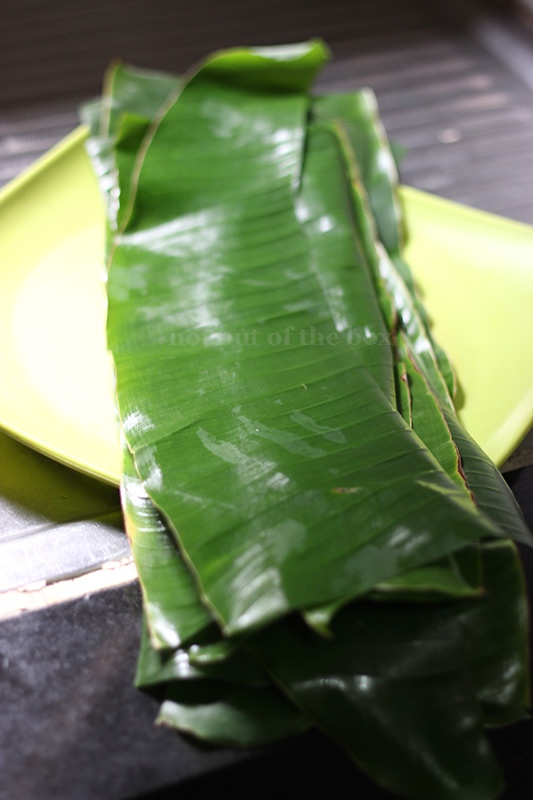 Pieces of Banana leaves