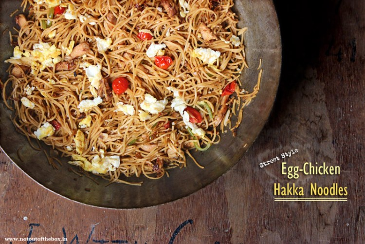 Egg Chicken Hakka Noodles