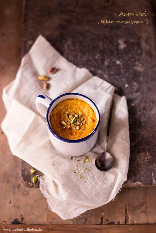 Aam Doi/Baked Mango Yogurt