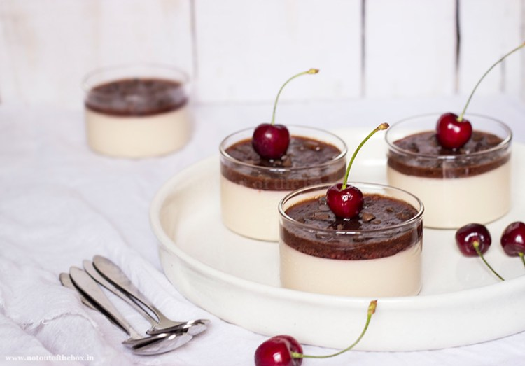 Coffee Cherry Panna Cotta