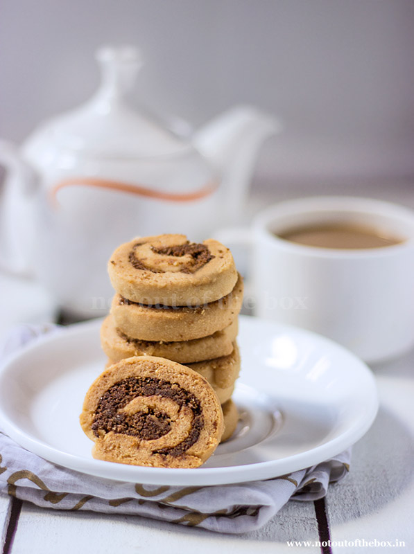 Spiral Cookies made with RiteBite Max Protein 7 grain protein snack