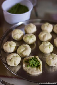 Making of Balls with Peas filling