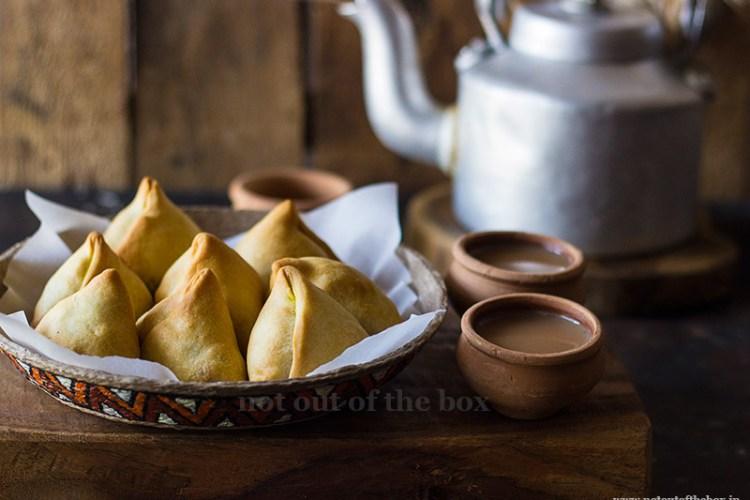 Potato Cauliflower Samosa/Aloo Phulkopir Singara