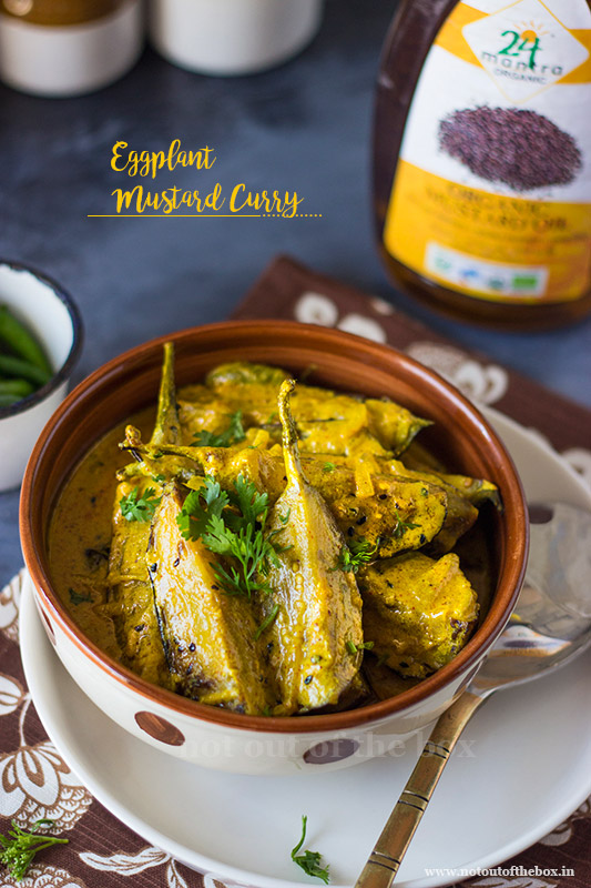 Eggplant Mustard Curry/Begun Basanti