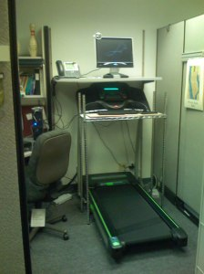 DIY Treadmill Desk