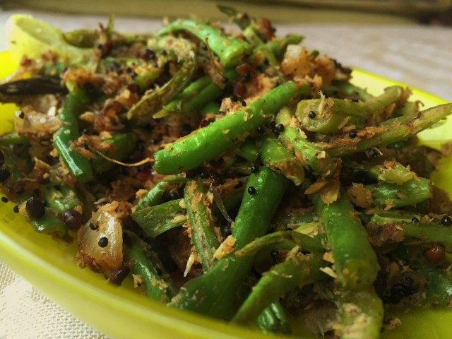 French Beans with just the right spice