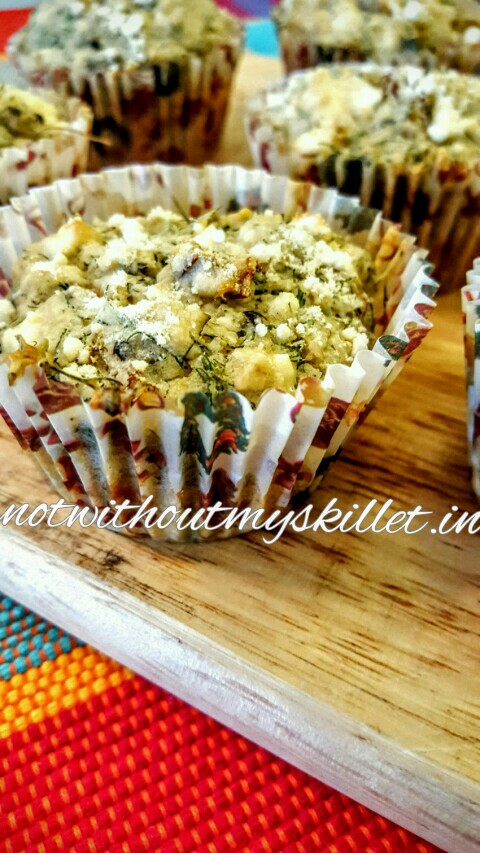 Super delicious, moist dill, sundried tomatoes and feta muffins