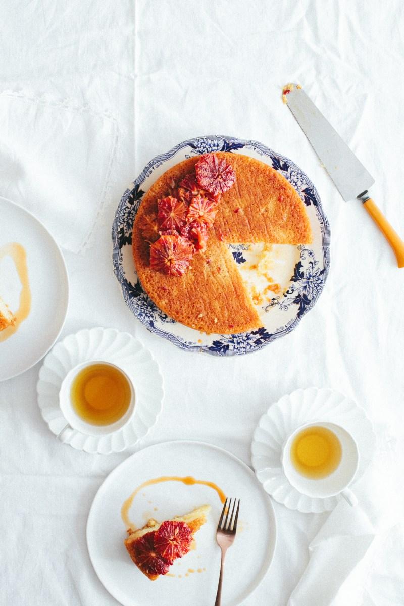 Yogurt Cake with Blood Orange Caramel // Notwithoutsalt.com