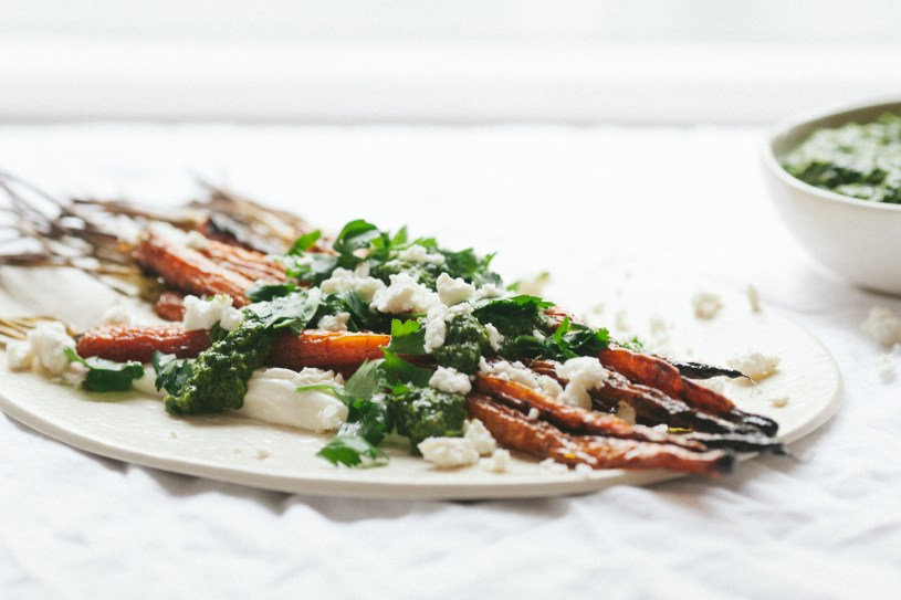 Carrots with Yogurt and Green Sauce // Notwithoutsalt.com