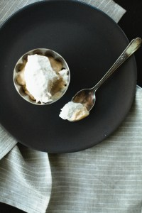 Butterscotch Pudding with Roasted Banana Whipped Cream // not without salt