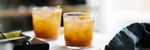 Ginger Peach Rum Punch // Notwithoutsalt.com