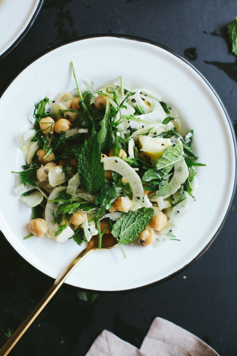 Chickpeas with Fennel and Herbs // Notwithoutsalt.com