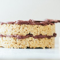 PB Krispie Treat Cake // Notwithoutsalt.com