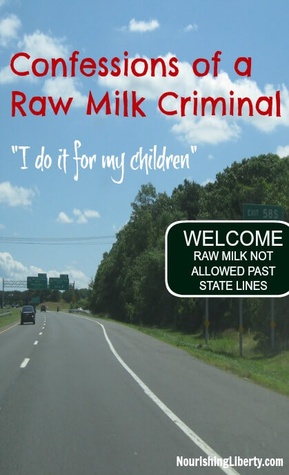 """Is there any food that is important enough to you that would break the law to access it? """"I personally help facilitate families who want to cooperate in the procurement of fresh milk. I, and a growing numbers of individuals, will continue to transport raw milk across state lines and make it available to anyone in Maryland who wants it. Peaceful farmers are criminalized for providing food to eager individuals while peaceful consumers are criminalized for obtaining the food of their choice from the producer of their choice."""""""