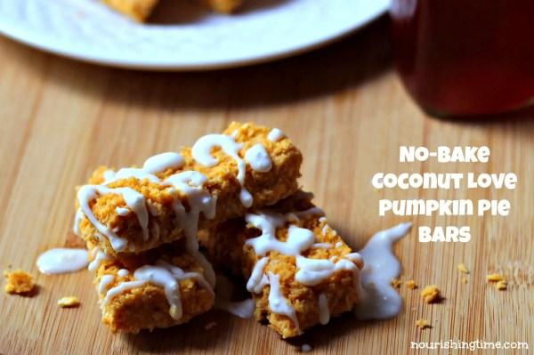 Coconut Love Pumpkin Pie Bars