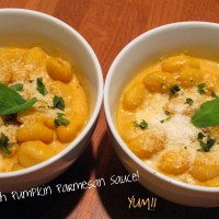 Gnocchi with Pumpkin Parmesan Sauce