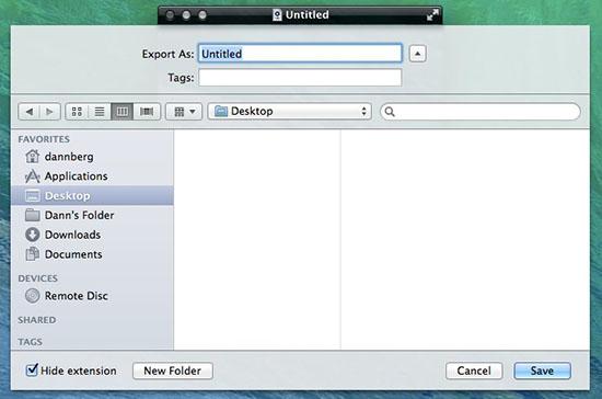 Quicktime save file to desktop