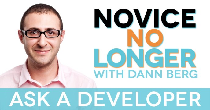 Ask a Developer on Novice No Longer