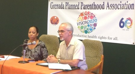 GPPA Executive Director Mrs. Jeannine Sylvester-Gill, and Caribbean Family Planning Affiliation President Mr. Alan Bierzynski
