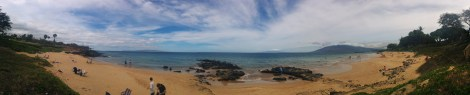 Panorama of Kamole Beach Park 3, where we spent our morning snorkeling.
