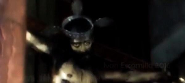 #Curiosidades Mira el impresionante video de un …¿Cristo que abre los ojos?