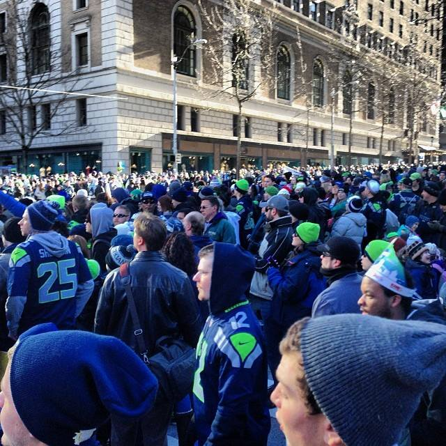 Seattle Seahawks homecoming parade. Superbowl XLVIII champs
