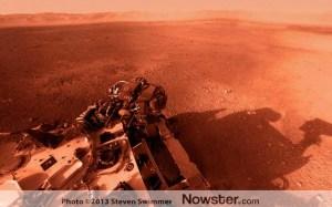 Curiosity Rover Mars view