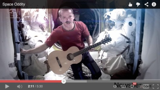 Commander Hadfield sings