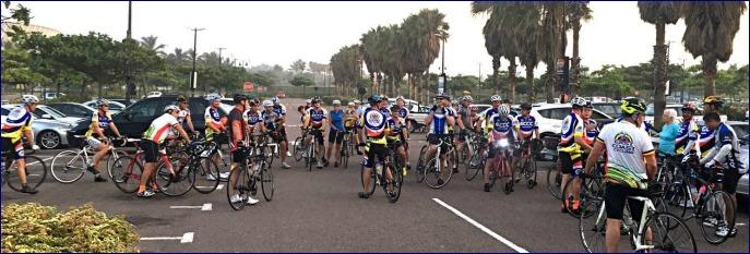 Start of ECCC Saturday ride.