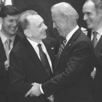 Arlen Specter (seen here cozying up to Vice President Joe Biden) was a Republican for decades, and now he's a Democrat. But throughout his political life he's never stopped pandering to union bigwigs and forced unionism.