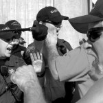In southwestern Washington last September, overpowered police were unable to prevent bat- and ax handle-wielding union toughs from systematically sabotaging a multi-million-dollar grain terminal.  Credit: AP
