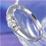 0.28ct ダイヤモンド プラチナ デザインリング ・ダイヤ指輪