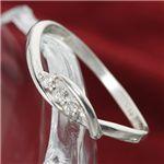 SIL925/0.03ct スリーダイヤモンドリング