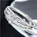 0.1ctダイヤモンドサザンクロスシルバーリング・ダイヤ指輪