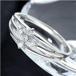 SIL925/0.1ct ダイヤモンドサザンクロスシルバーリング