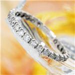 SIL925/0.5ct ホワイトゴールドカラー ダイヤモンドエタニティリング ・ダイヤ指輪