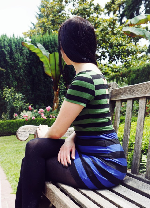 Nubby Twiglet | What I Wore: Tropical Stripes