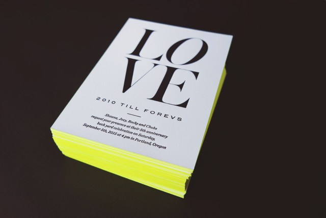 Nubby Twiglet | 2010 Till Forevs: The Letterpress Invites
