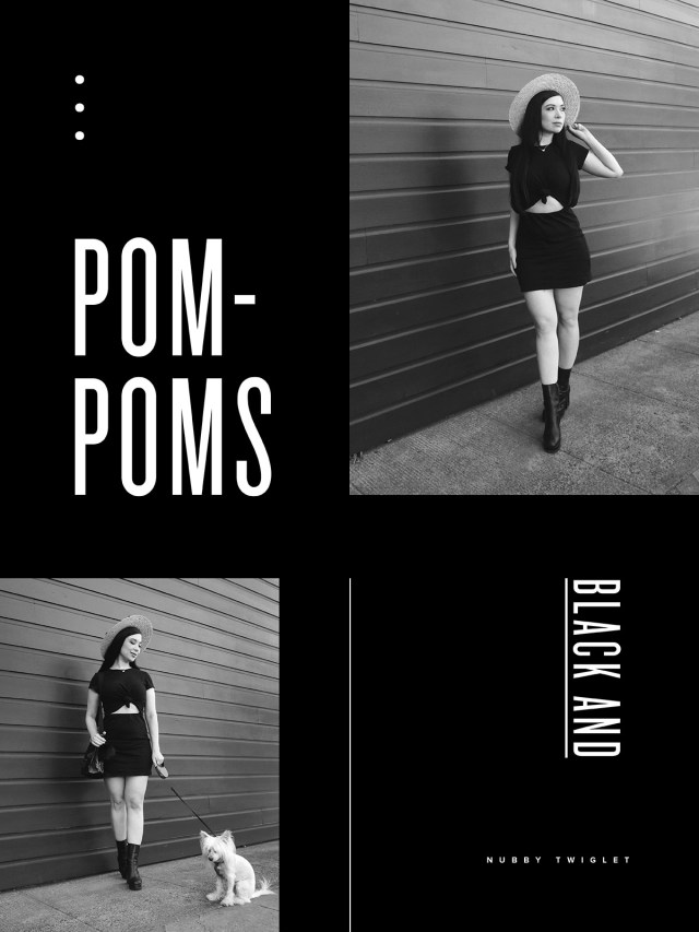 Nubby Twiglet | What I Wore: Black and Pompoms