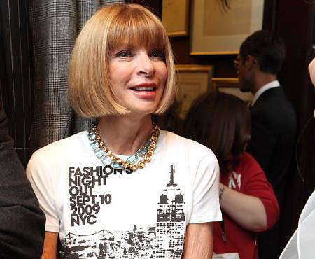 Anna Wintour attends Fashion's Night Out NYC 2009